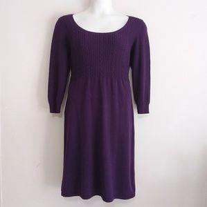 Chaps Purple Midi Sweater Dress